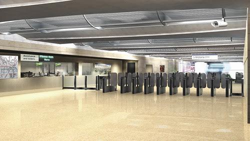 Victoria Station Upgrade - artists impression