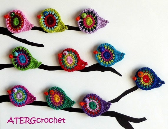 Crochet pattern bird by ATERG.crochet
