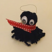 Yarn Monster Key Ring craft for kids