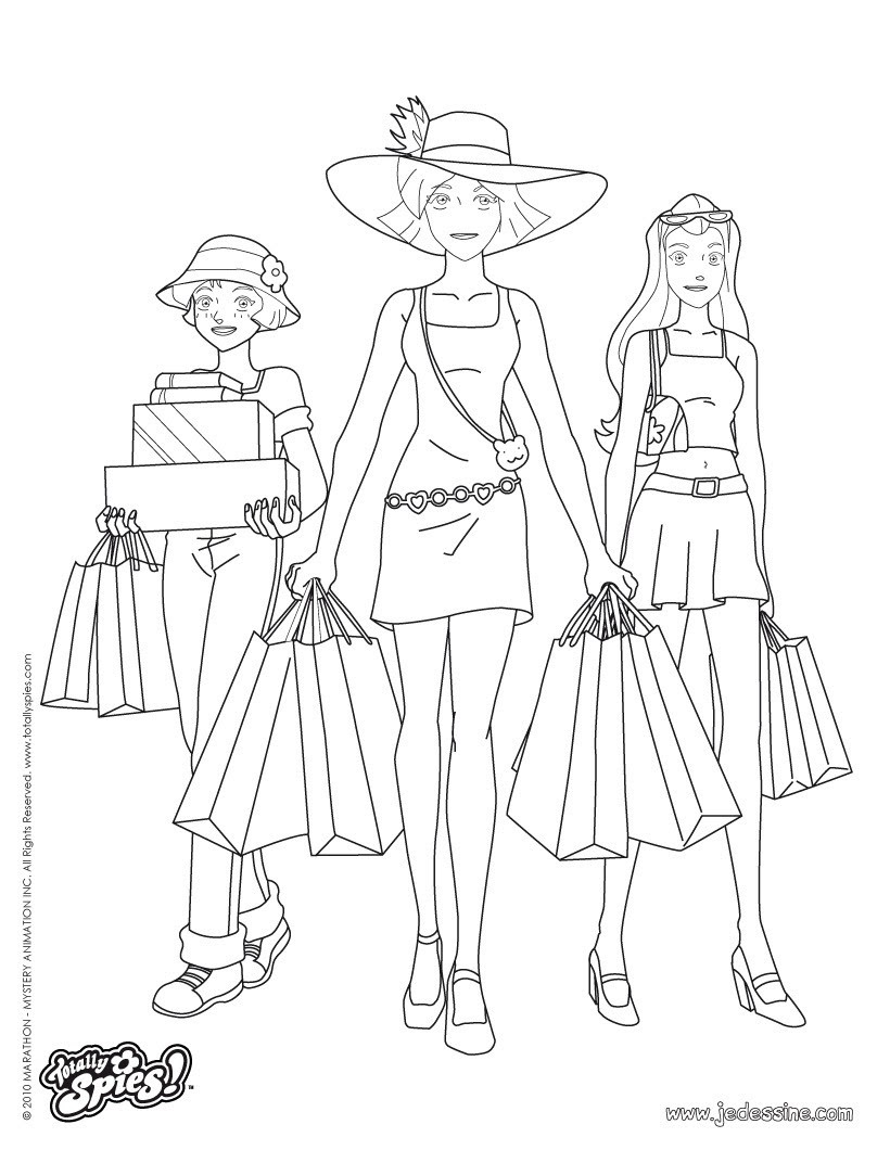 Coloriage Sam Coloriage Totally Spies Auto Electrical Wiring Diagram