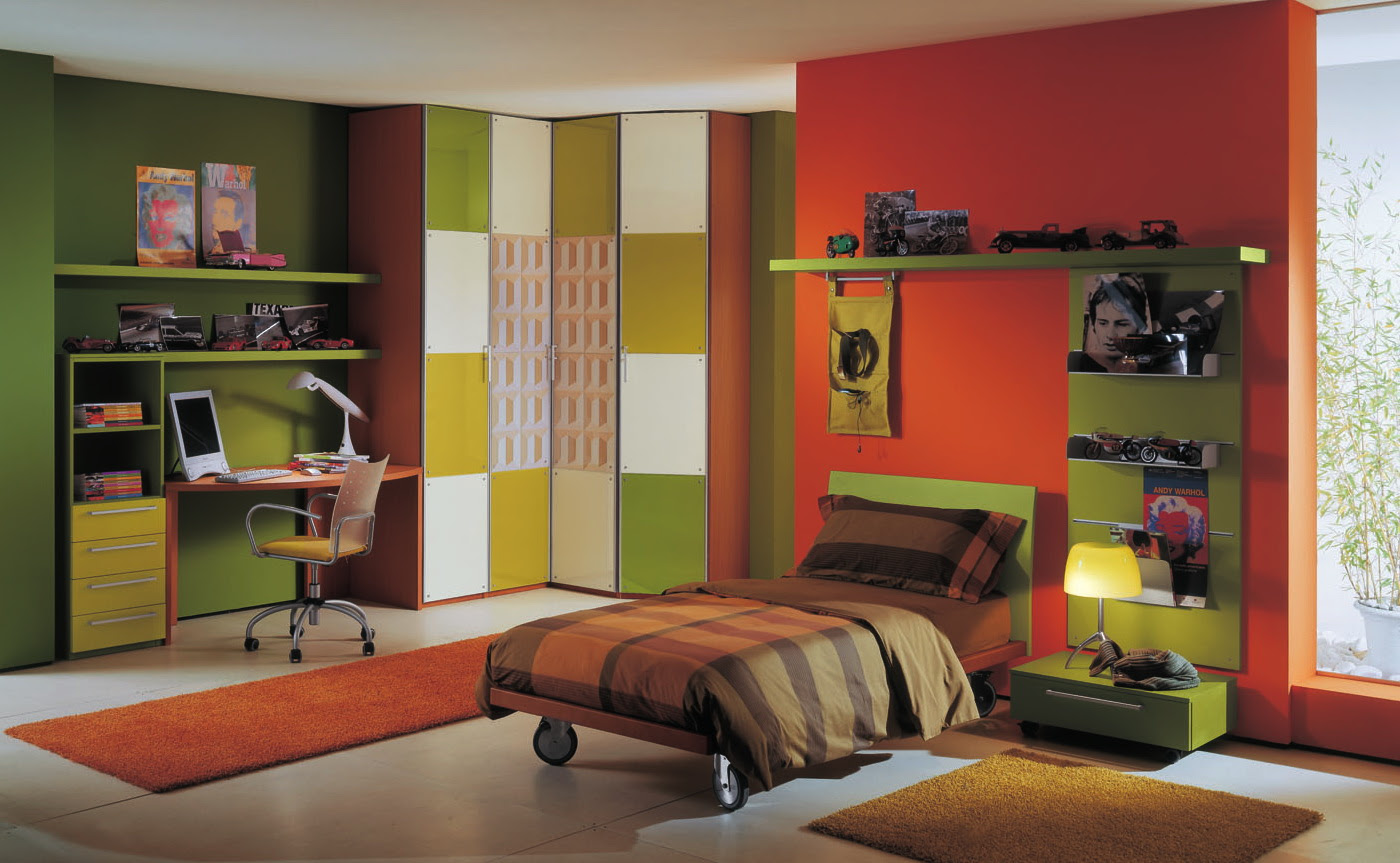 colorful kids bedroo