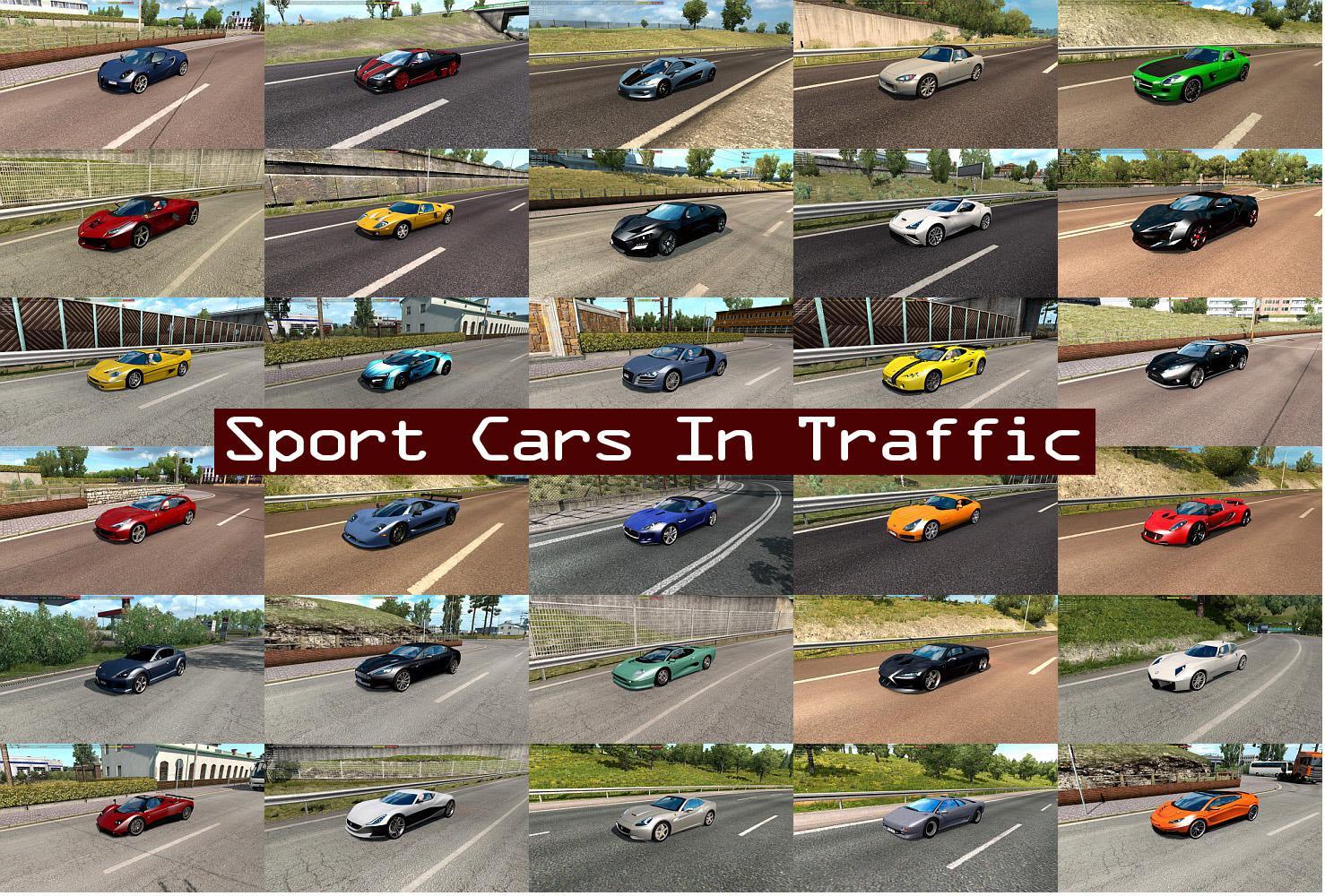 Sport Cars Traffic Pack v6.1 ETS2 - Euro Truck Simulator 2 ...
