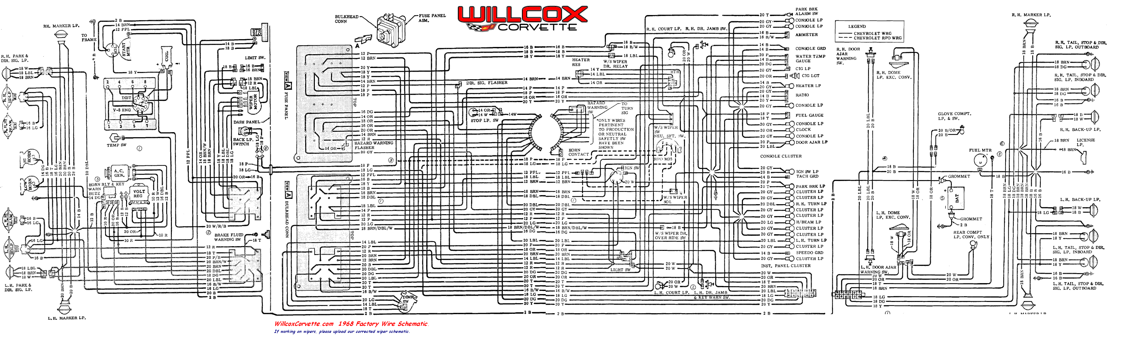 1968 Corvette Wiring Diagram Wiring Diagram View A View A Zaafran It