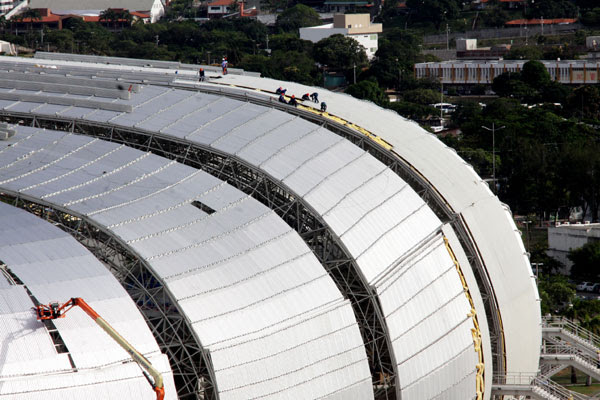 Estádio Arena das Dunas receberá dois jogos à noite e os outros dois que seriam às 13h passarão para um horário de fim da tarde