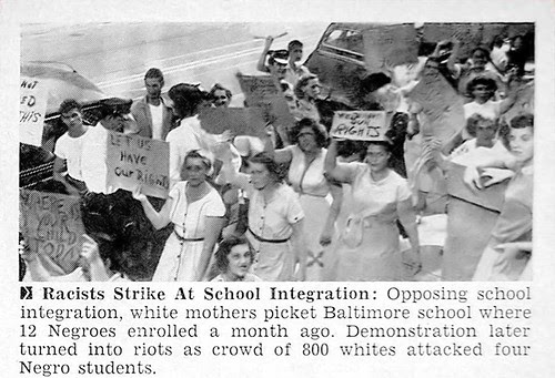 Baltimore Racist Mothers Strike At School Integration - Jet Magazine Oct 14, 1954 por vieilles_annonces.