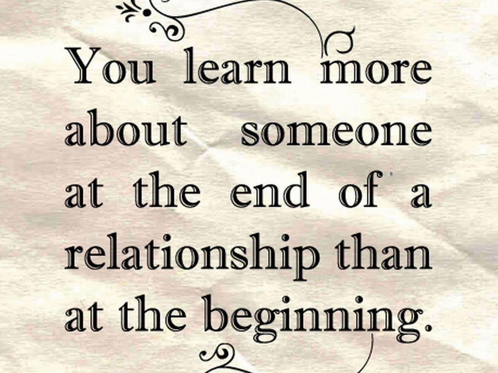 Quotes About Relation End 29 Quotes