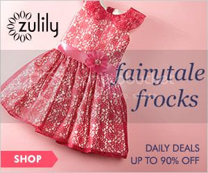 Save up to 90% with Zulily