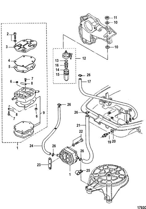 Mariner 25 HP (2 Cylinder) (2-Stroke) (International) Fuel