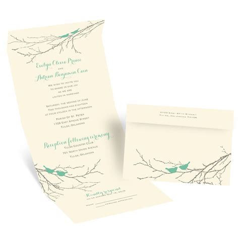 Boughs and Birds Seal and Send Invitation   Invitations by