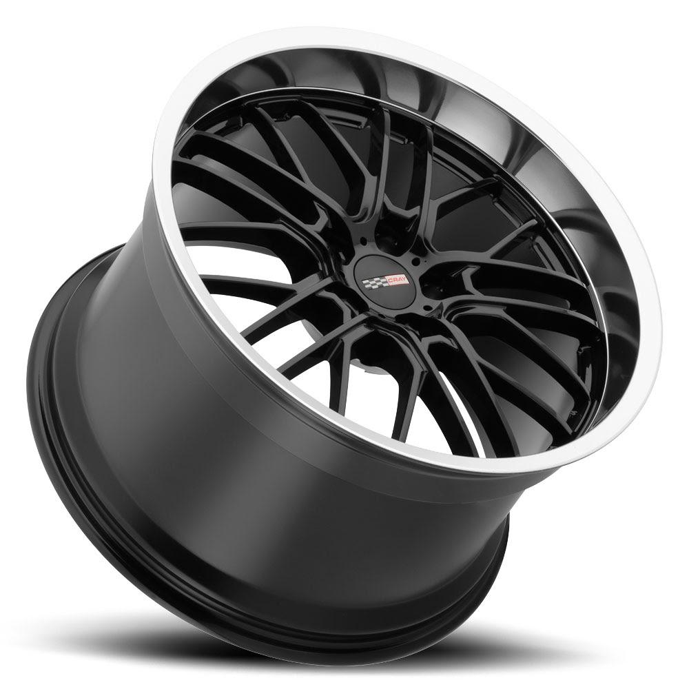 corvette wheels rims cray eagle 5 lug gloss black mirror lip lay 1000_6182