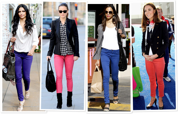 How to Wear; Coloured Jeans