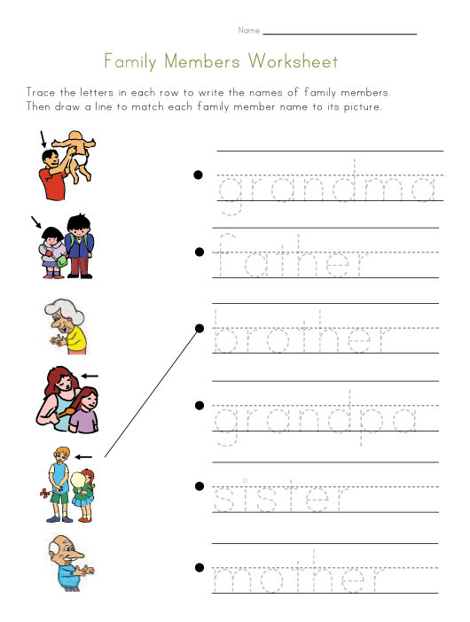 Print family Family tree and worksheet grade Your 2 for Worksheet Members  View