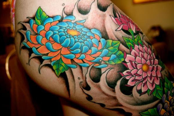 Third Tattoo, Finished - Top - flower tattoo