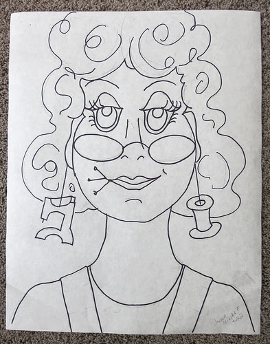 #22 Lady - the drawing