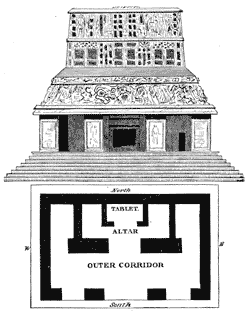 Elevation and plan of the Temple of the Sun, Palenque