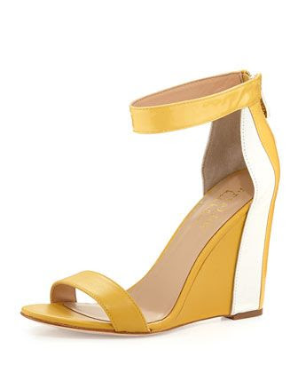Nicole Miller Antilles Ankle-Wrap Wedge Sandal
