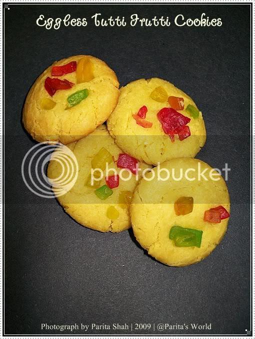 Eggless Baking,Christmas Cookies,Tutti Frutti Cookies