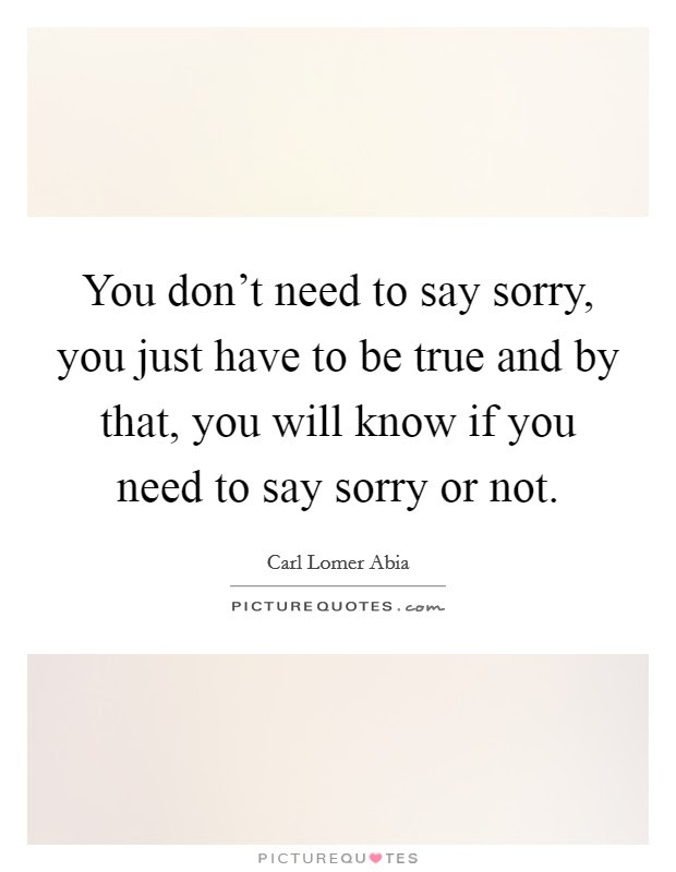 Dont Say Sorry Quotes Sayings Dont Say Sorry Picture Quotes