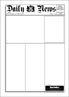 This is a two page 'Daily Newspaper' Template that can be used for ...