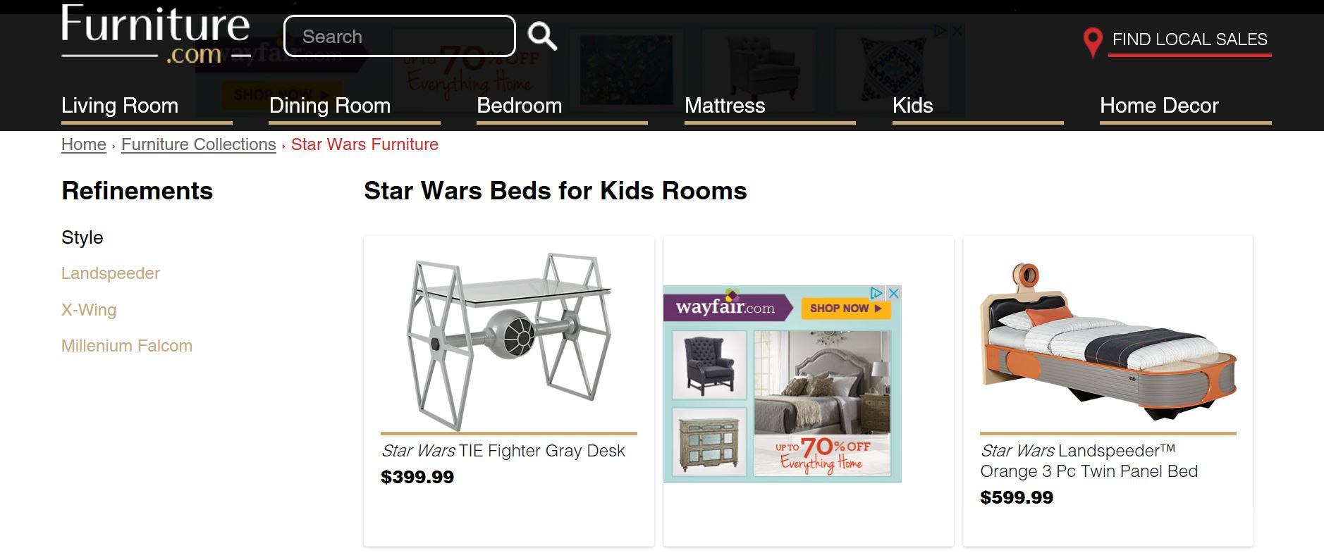 Star Wars Furniture for Padawans