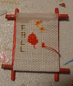 Cross Stitch in Frame
