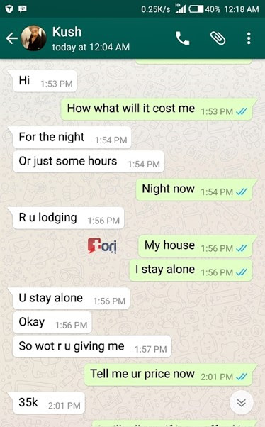 Leaked Conversation Between A Prostitute And A Client Will Leave You Speechless