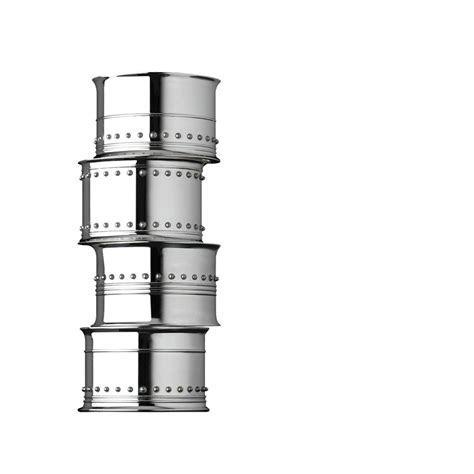 Vera Wang Wedgwood Grosgrain Silver Giftware Napkin Rings