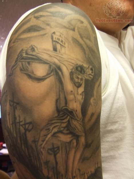 Best Jesus Tattoo On Shoulder