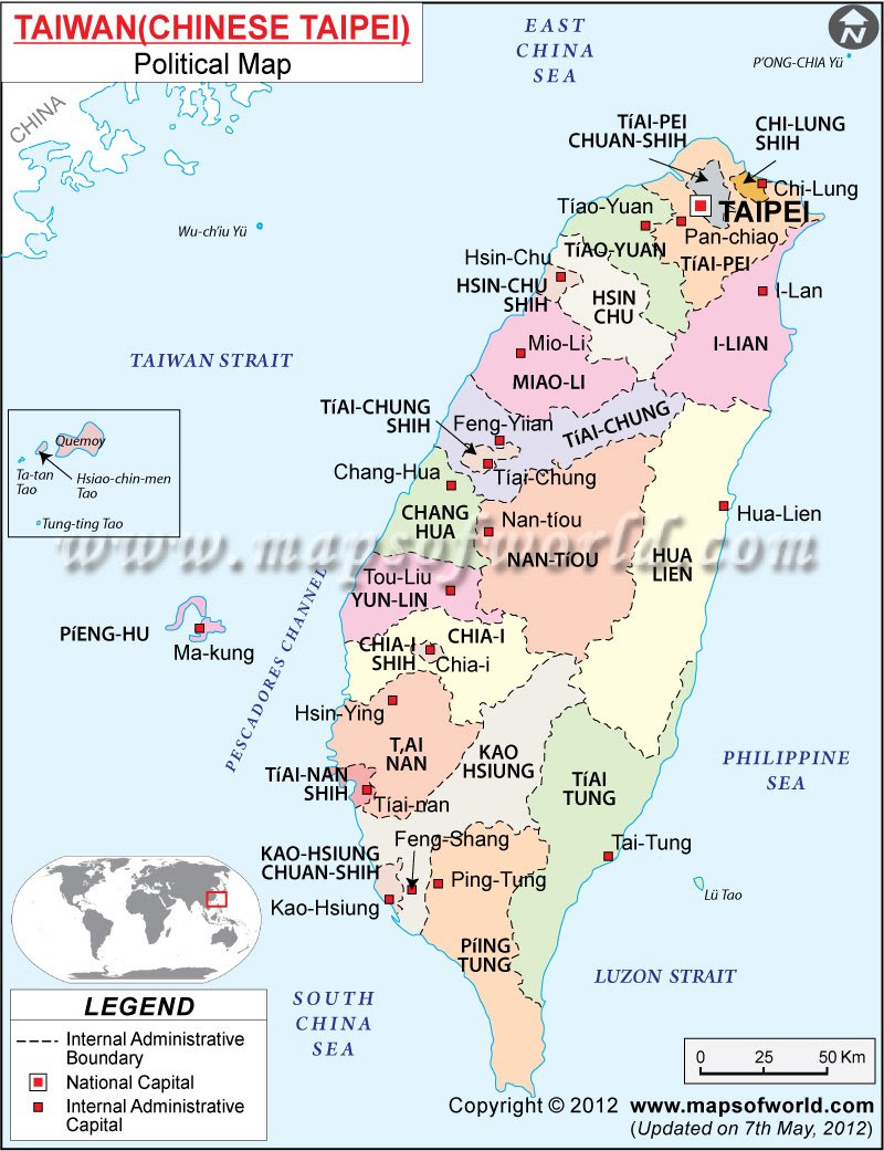 Taiwan ~ World Of Map