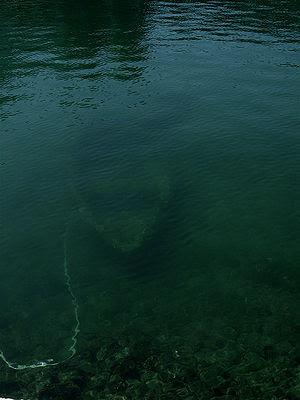 Βυθισμένη βάρκα στην Κέρκυρα