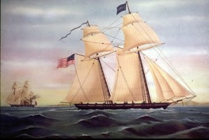 A privateer boat in War of 1812
