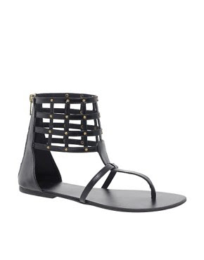 Image 1 of ASOS FUEL Studded Leather Sandals