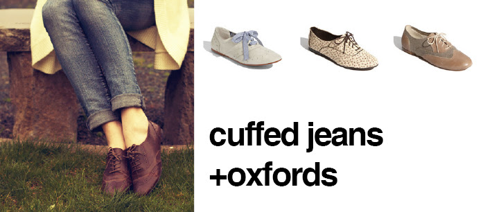 dash dot dotty style blog spring trends oxfords cuffed jeans