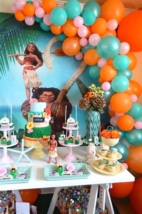Kara's Party Ideas Chic Moana Birthday Party   Kara's
