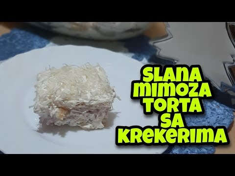 Slana MIMOZA TORTA sa KREKERIMA