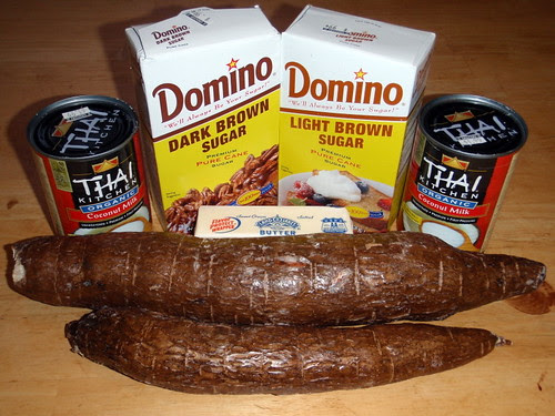 Ingredients for cassava heavy cake