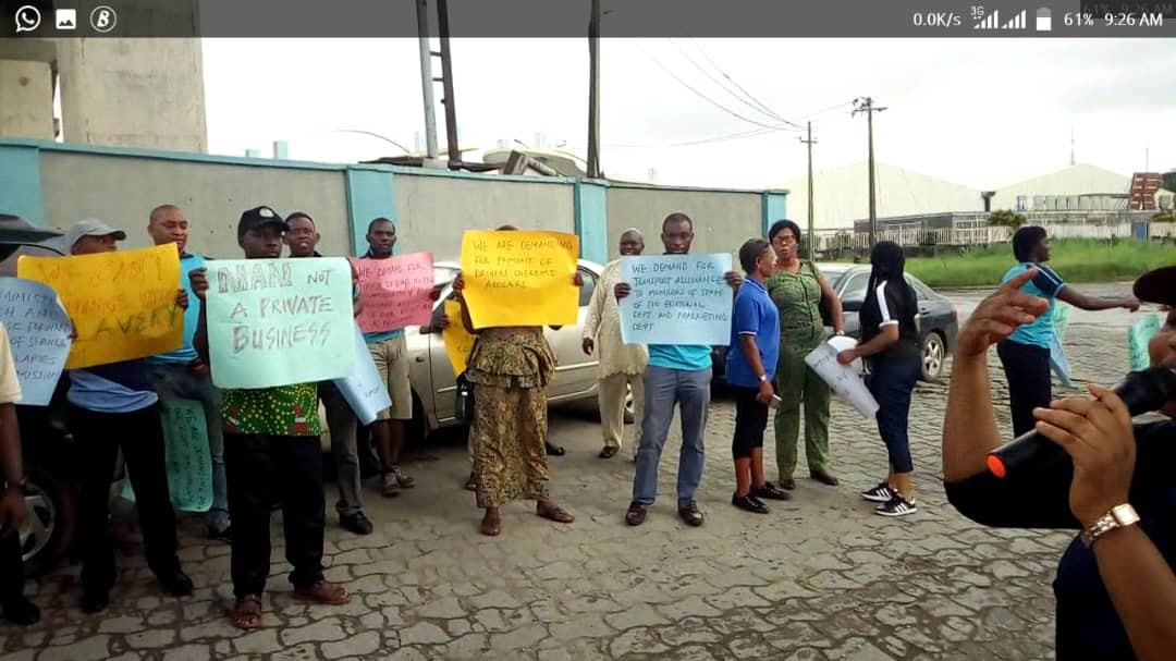 Staff Of News Agency Of Nigeria Protest Over Non-Payments (Photos)