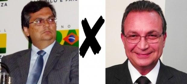 Flávio Dino e Luis Fernando: pré-candidatos que disputam o Governo do Maranhão