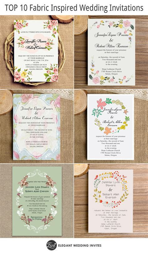 Top 10 Fabric Inspired Floral Wedding Invitations Starting