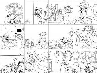 Tom E Jerry Da Colorare Disegni Gratis