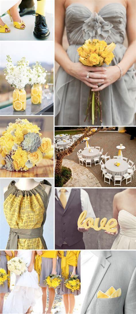 Grey & Yellow Wedding Theme   Weddings By Lilly
