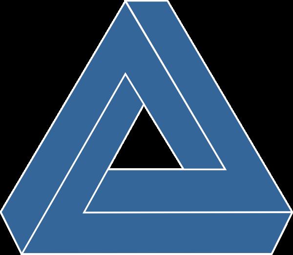 Blue Triangle 2 Clip Art at Clker.com - vector clip art ...