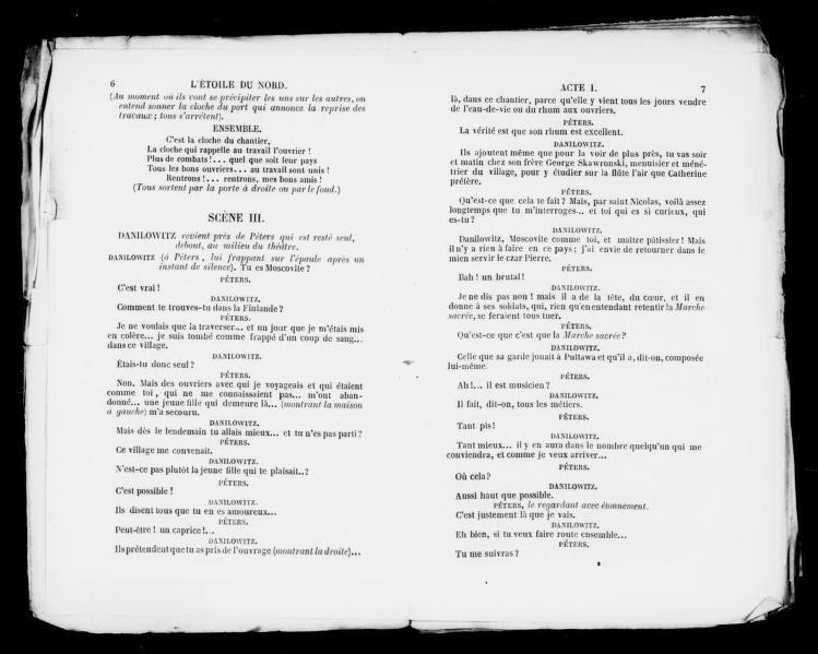 Image 6 Of Létoile Du Nord Opéra Comique En Trois Actes