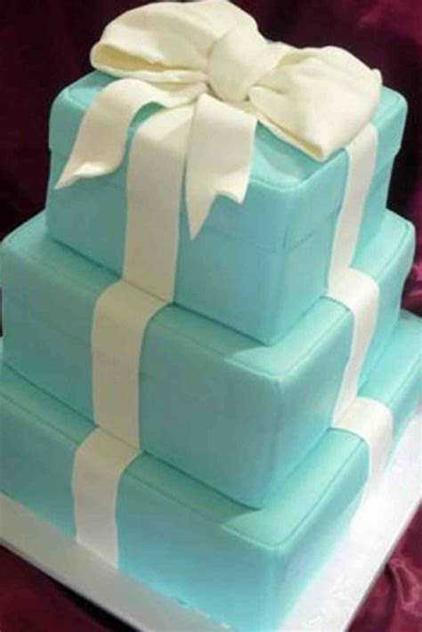 Tiffany Box   Unusual Wedding Cake ? The French Gourmet