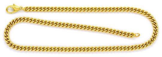 Foto 1, Rundpanzer Kette Goldkette massiv Gelbgold 50Gramm 45Cm, K2242