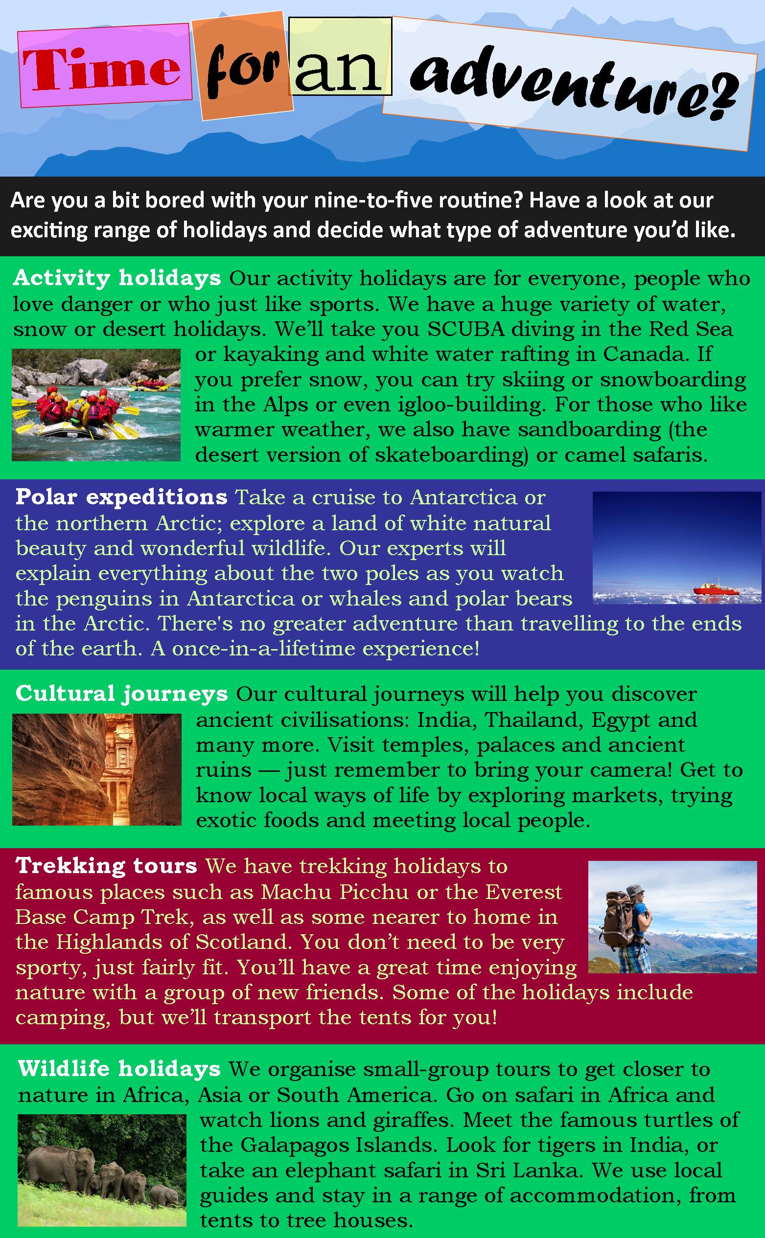 Adventure travel | LearnEnglish Teens - British Council