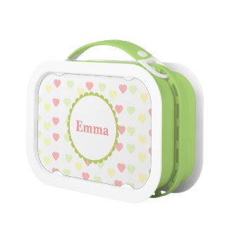 Personalized {heart} Lunch box