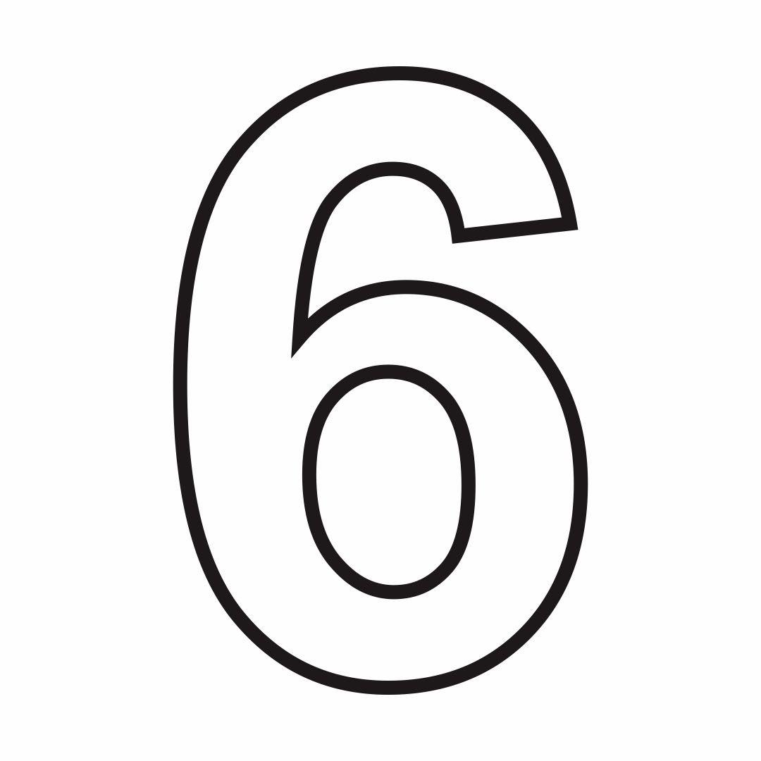 7 Best Images of Printable Number 6 7 - Large Printable Numbers 1 ...