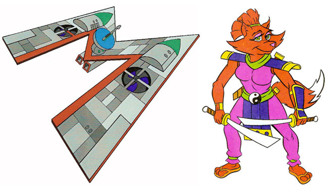 (TMNT Spinoff) ..Mutanimals The Animated Series! - ..Ship Arkwind & Ninjara ..[[Courtesy of Ryan Brown]] ((1992))