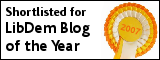 Shortlisted for LibDem Blog of the Year